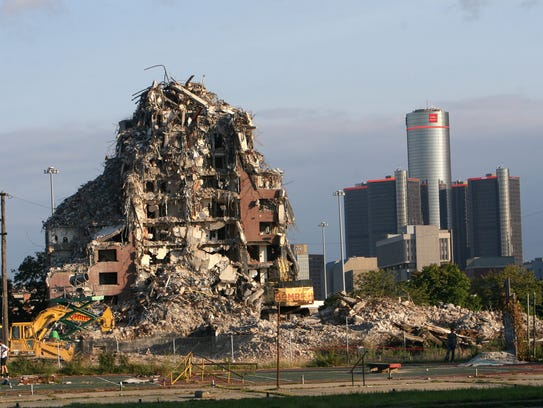 The last of the project's four 15-story towers was razed in 2014.