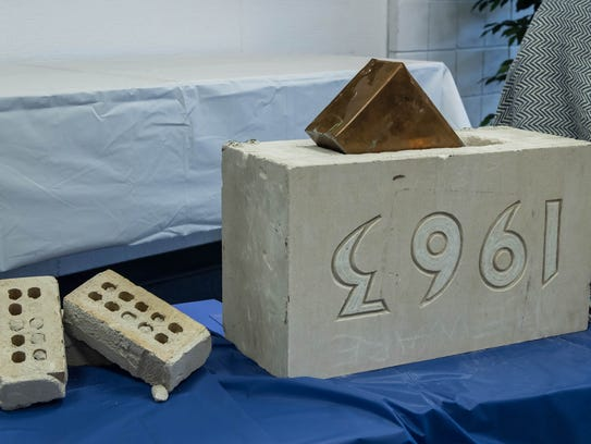 A copper time capsule was found in a brick from the