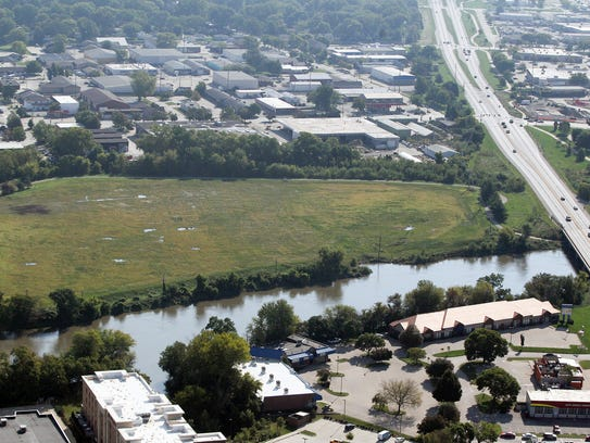 The Riverfront Crossings district of Iowa City is pictured