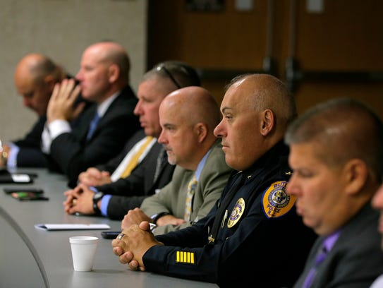 Butler Police Chief Ciro Chimento attends the Clergy