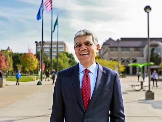 Wayne State University President M. Roy Wilson starts