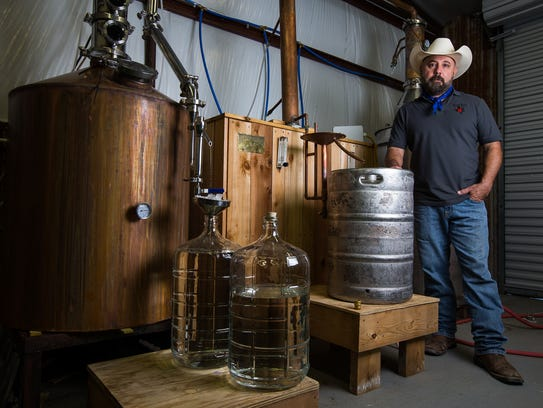 Royel Aguilar started South Texas Distillery in July