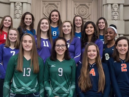 The 2016 All-City Volleyball Team, as selected by city