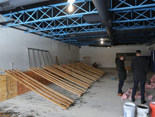 The interior of the forthcoming Livernois Tap & Brewery
