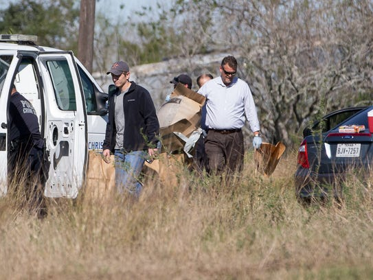 Corpus Christi Police collect evidence where the body