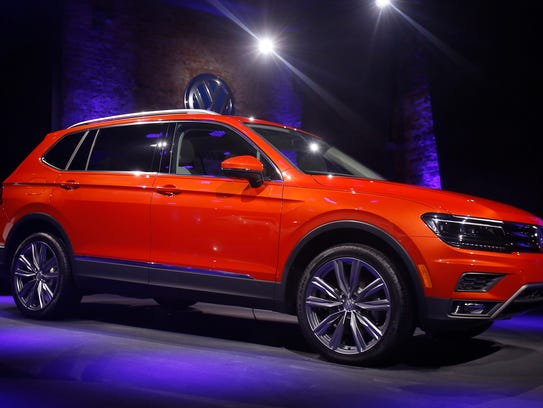 The 2018 Volkswagen Tiguan is revealed during the North