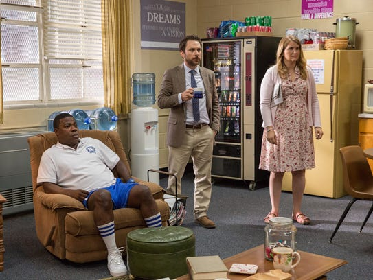 Tracy Morgan (from left), Charlie Day and Jillian Bell