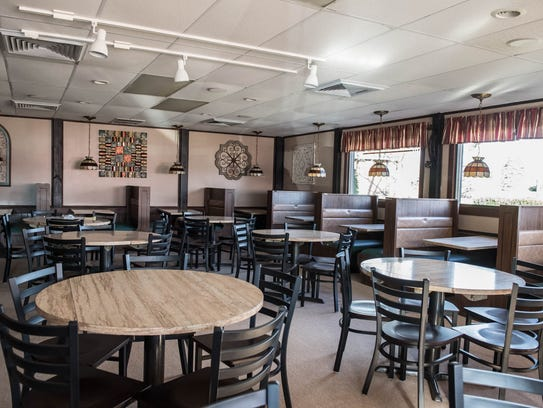 Interior of newly remodeled Pizza Parlor.