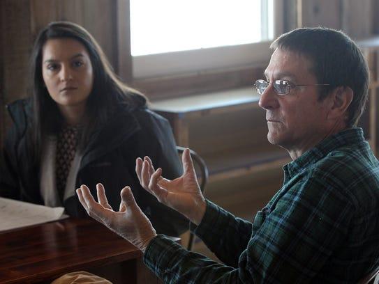 Paul Rasch and his daughter, Katie Goering, discuss