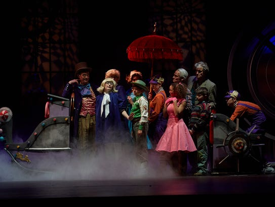 """The cast of """"Willy Wonka"""" at Flat Rock Playhouse."""