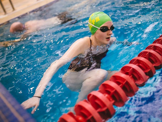 Livonia Community Swim Club swimmer Caitlin Jodway,