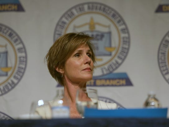 Former U.S. Attorney General, Sally Yates, during the
