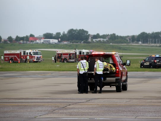 Emergency responders participate in a mass casualty