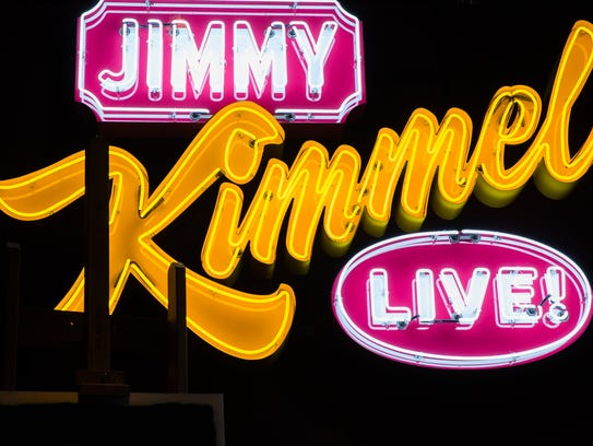 An Jimmy Kimmel live logo is part of the House Industries: