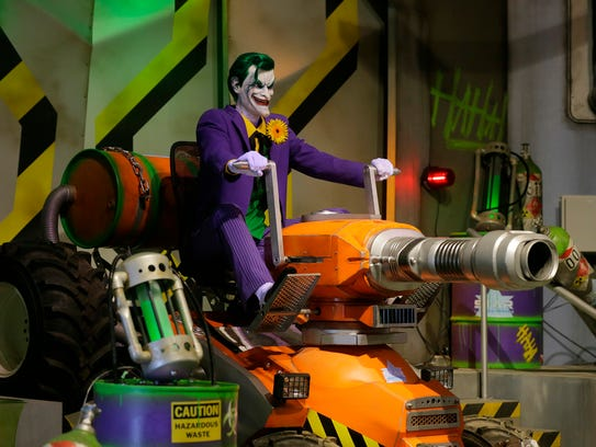 Detail of The Joker feature inside the ride during