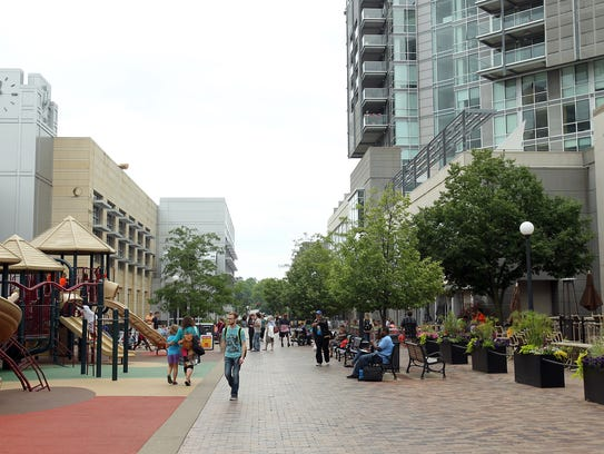 The pedestrian mall is pictured on Wednesday, June