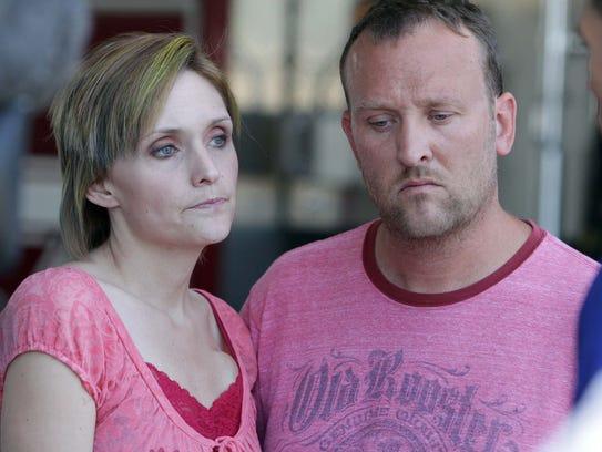 Heather and Drew Collins, parents of missing girl Elizabeth