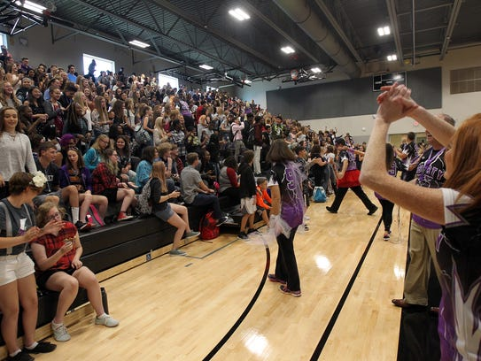 Liberty High faculty welcome students on the first