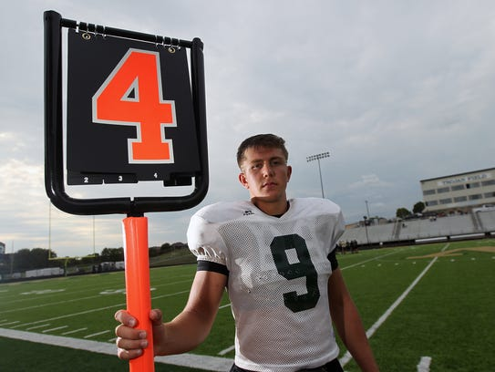 West High's Dillon Doyle poses for a photo after practice