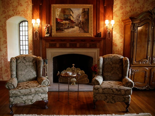 The Great Room in this Grosse Pointe Farms home built