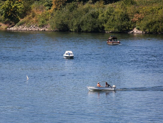 Boats on the Willamette River on Saturday, Sept. 2,