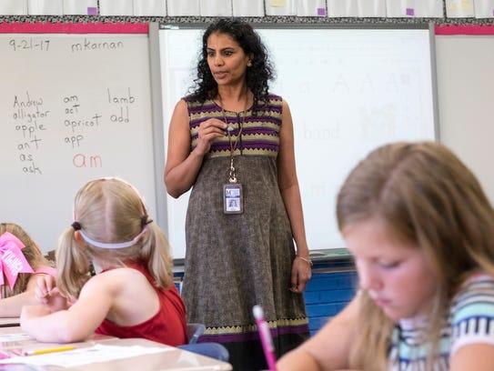 Washington Elementary School first grade teacher Manjana