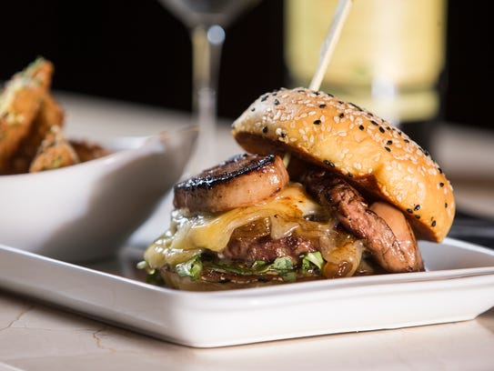 """The """"Doctorate"""" burger, featuring St. Elmo Steak House"""