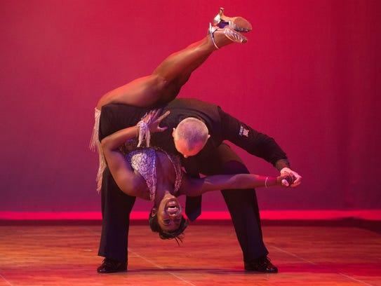 Jean Laws-Scott and instructor Greg Delekta performed