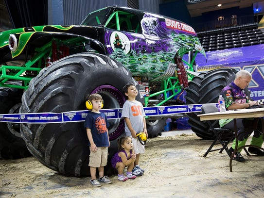 Monster Jam will begin at 7 p.m. Saturday and at 2