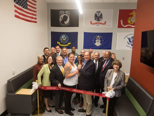 From left (front row): Union County Freeholder Vernell