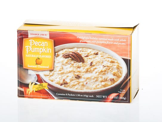 Pecan Pumpkin oatmeal is sold at Trader Joe's.