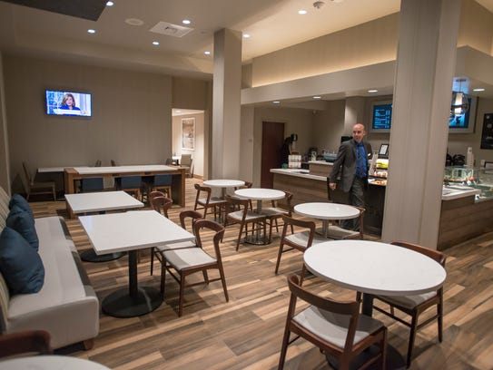 The renovated Starbucks lounge at the Hilton Fort Collins has moved into a new spot.