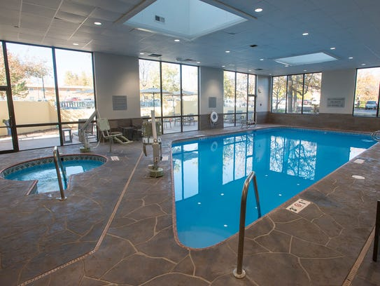 The pool area has been renovated at the Hilton Fort Collins.