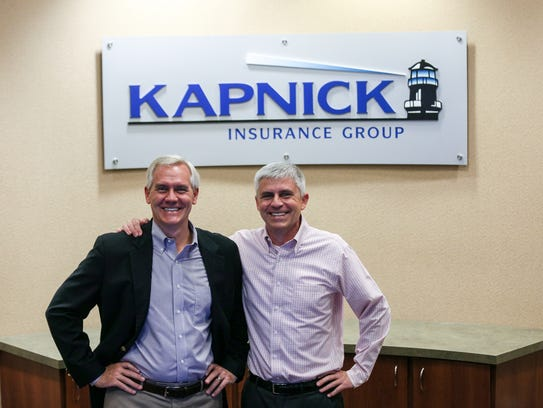 Chief Executive Officer James Kapnick, left, and President and COO Michael L. Kapnick at the Kapnick Insurance Group office in Ann Arbor.