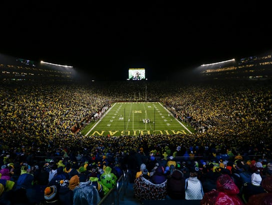 Michigan hosts Minnesota at the Michigan Stadium in