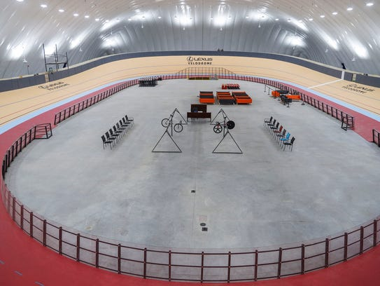 The length of Lexus Velodrome in Detroit is about 1/10 of a mile.