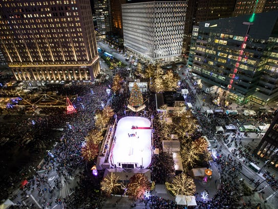 The skating rink on Campus Martius Park in downtown Detroit is now open.