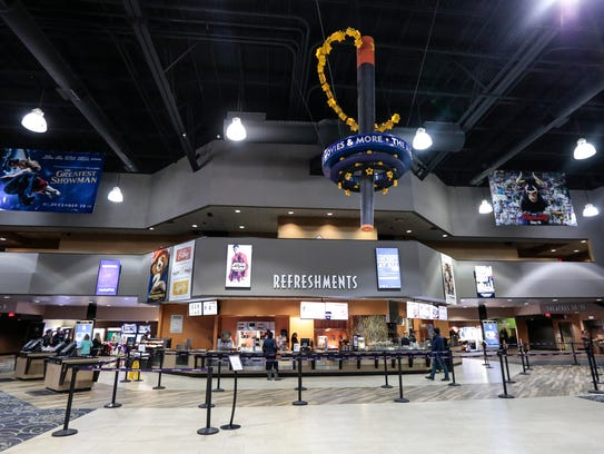 The newly renovated concessions area at the Emagine