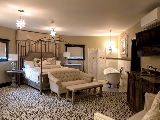 A suite is seen in the Detroit Club in downtown Detroit