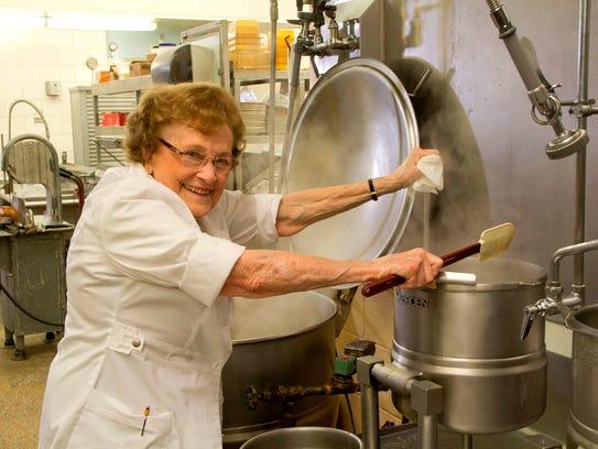 Dorothy Zehnder in the kitchen of the Bavarian Inn