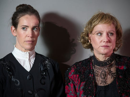 From left, Bridget Haight in character as Sarah Smith,