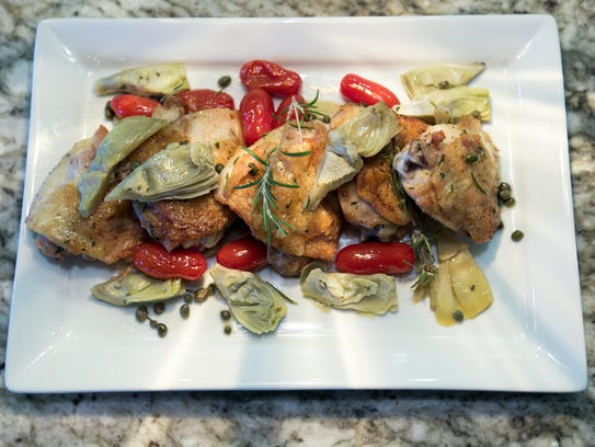 Chicken with Charred-Rosemary Vinaigrette for healthy