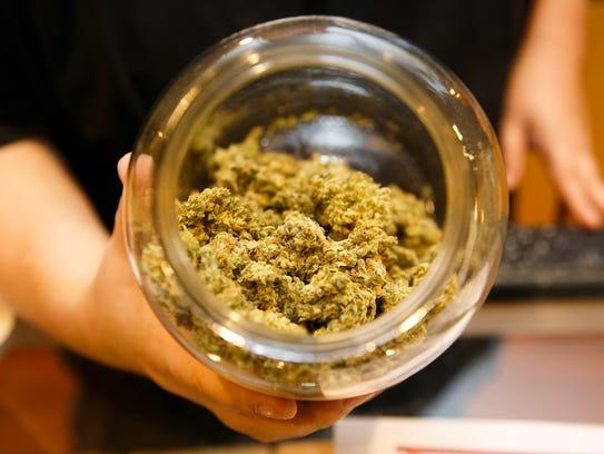 Indica-strain marijuana buds from Salem-based grower