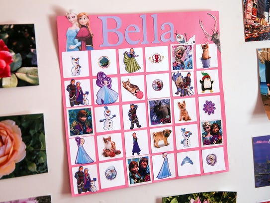 Bella Simons placed a sticker on this calendar to show each day of the radiation therapy she underwent in 2015 to treat two non-malignant brain tumors.