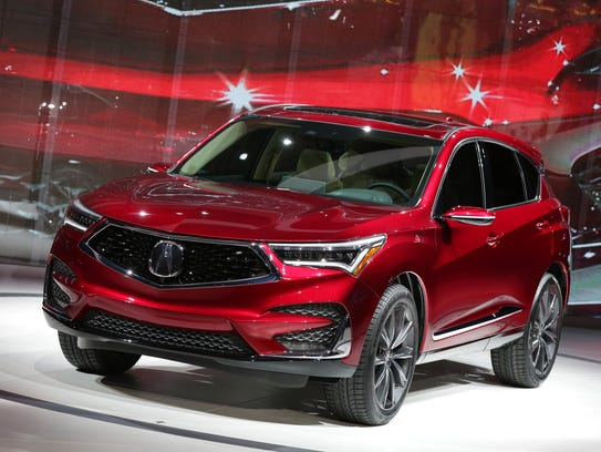 The 2019 Acura RDX prototype is introduced during the