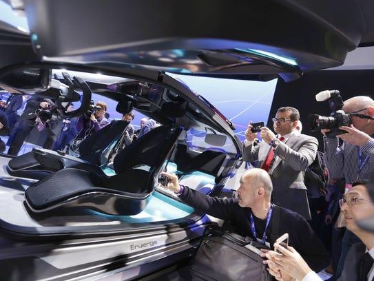 GAC Motor unveiled the GAC Enverge concept car during