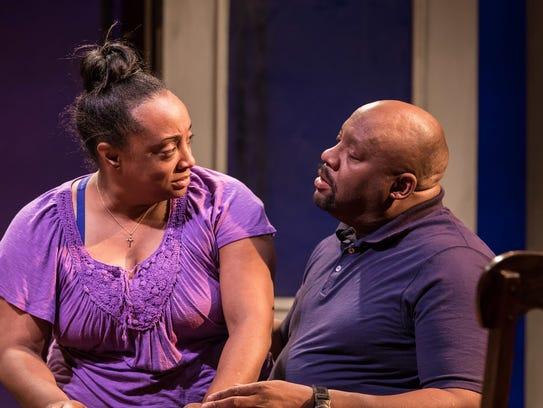"Casaundra Freeman and Lynch R. Travis in ""Flint"" at"
