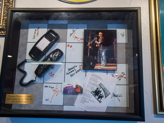 Memorabilia from the 1980's is displayed on Tuesday,