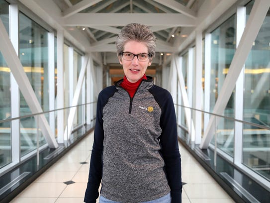 Liz Smith Yeats, 54, of Troy spends time volunteering with Rotary and also helps to organize a group of seniors that walk at the Somerset Collection in Troy.