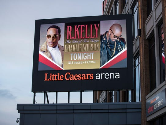 R. Kelly and Charlie Wilson's concert is advertised